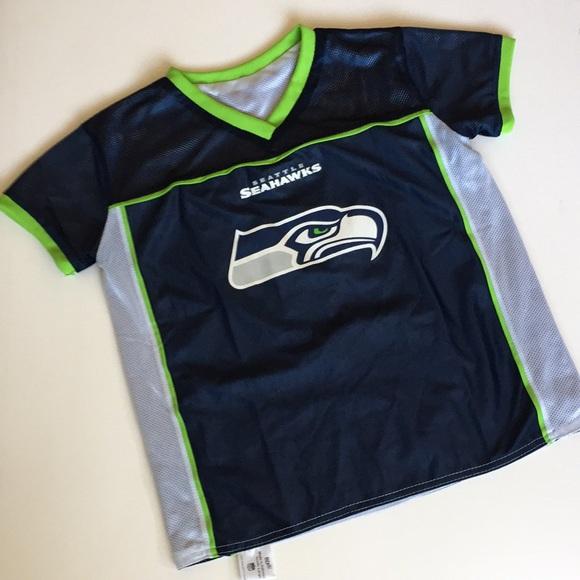 19e56881 Kids Seahawks NFL Flag Football Jersey Size Large